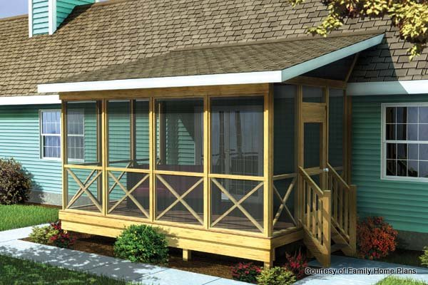 screened in porch family home plans screened porch plan #90012 MFIPBFN