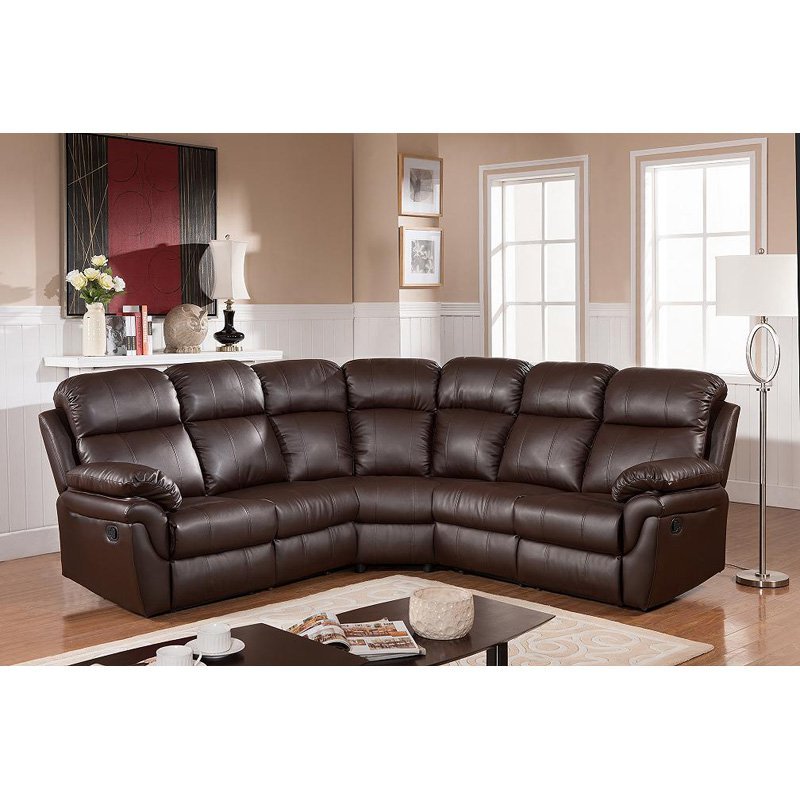 sectional sofas with recliners frankfurt sectional sofa with two recliners AAVLCEP