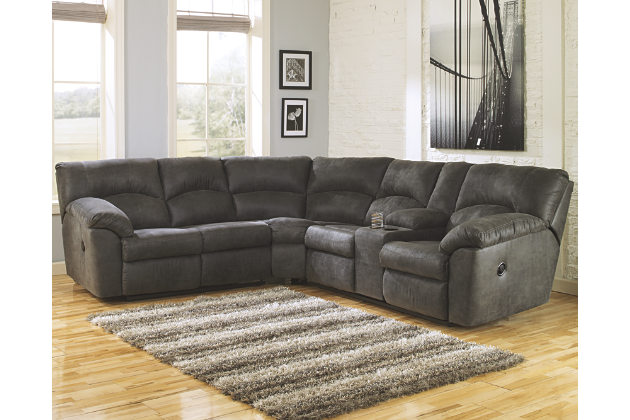 Save space and add comfort in your home by sectional sofas with recliners