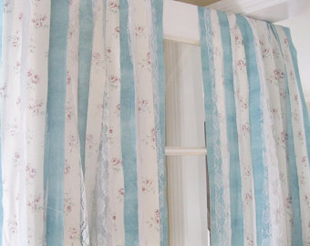 shabby chic curtains | bohemian curtains | handmade gypsy curtains | set of LLEGTOV