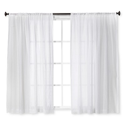 shabby chic curtains embroidered voile curtain panel white - simply shabby chic™ : target JHMQEPC