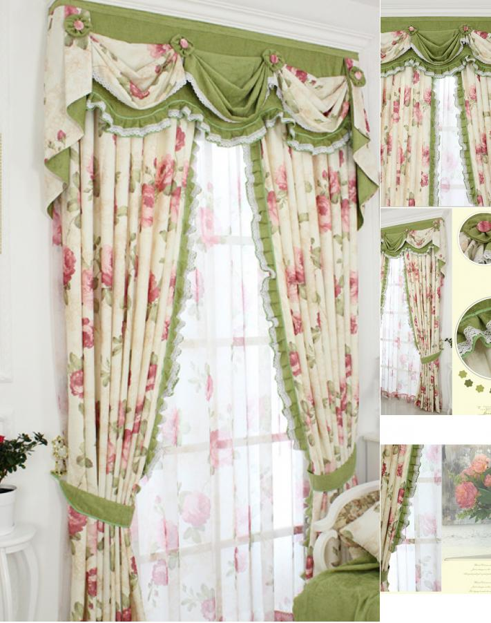 How to make shabby chic curtains