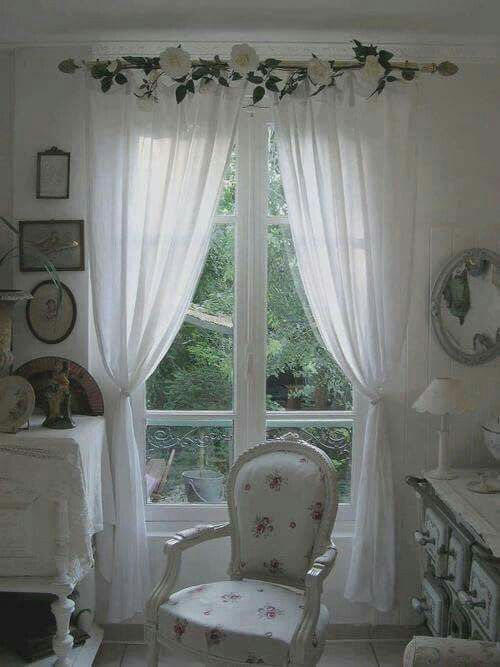 shabby chic curtains shabby chic - curtains idea more PIXHJGE