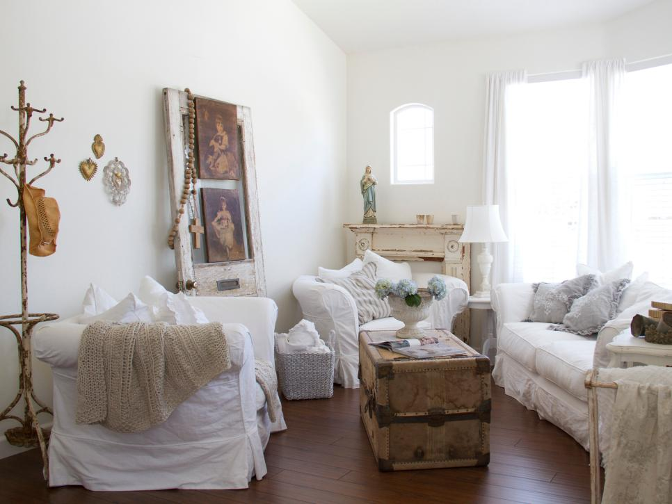 shabby chic living room cottage inspiration. while more modern interpretations of shabby chic ... WYFYLNJ
