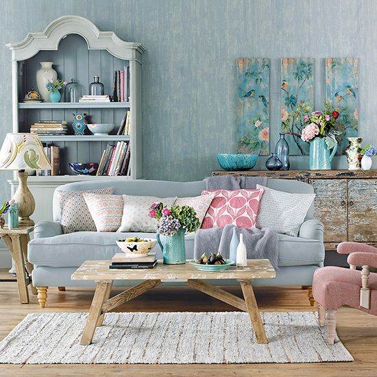 Top 4 ideas for shabby chic living room