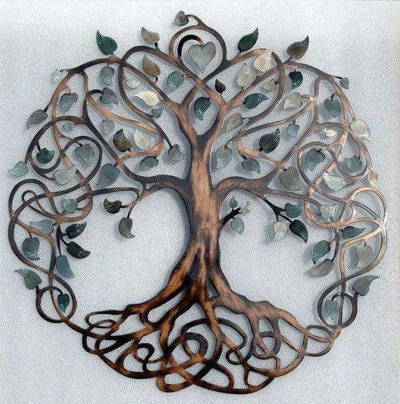 shades of grey tree of life infinity tree metal wall art FMSFDTF