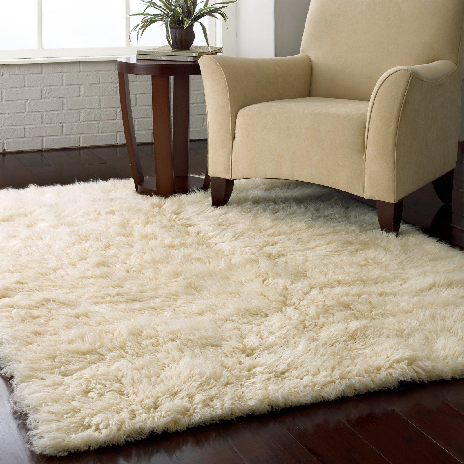 shag rugs flokati shag rug - natural CKTHZTN