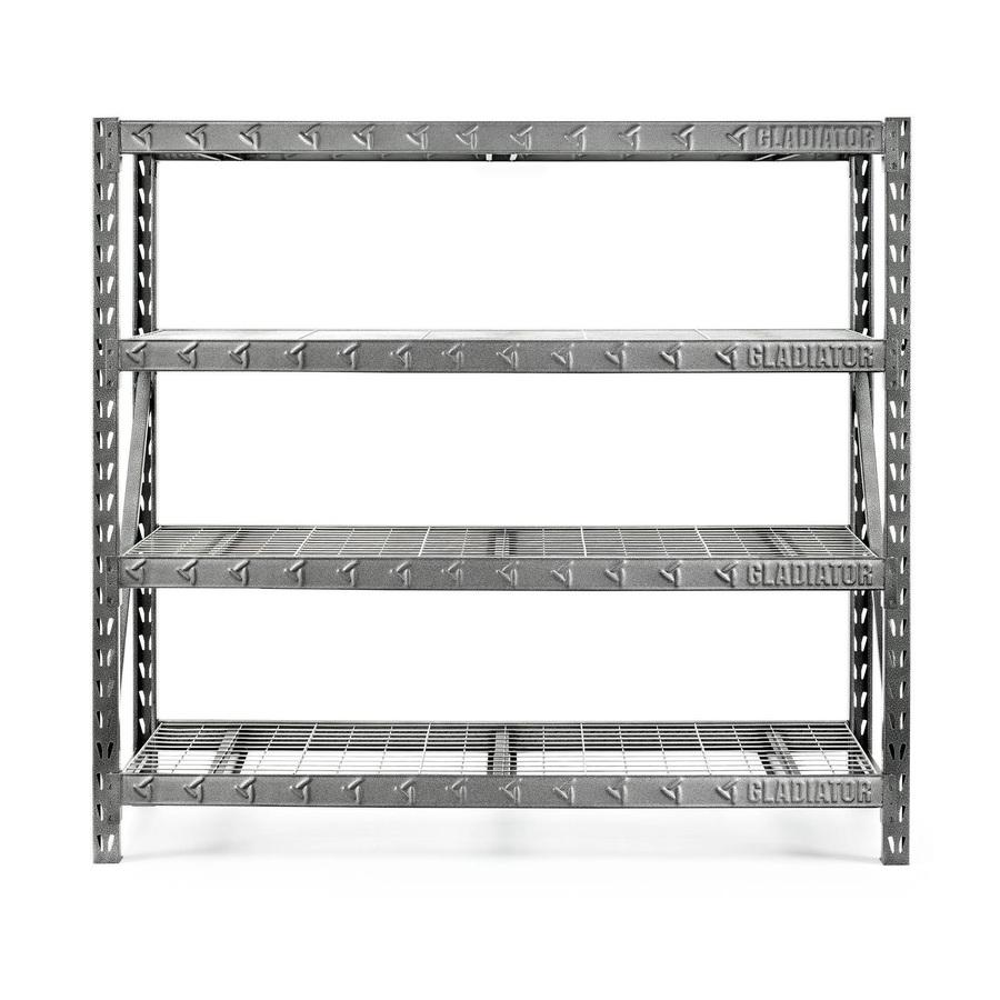 shelving units gladiator 72-in h x 77-in w x 24-in d steel RDBQAPU