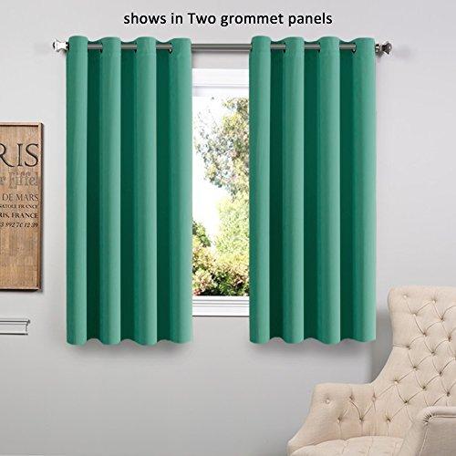 short curtains flamingop room darkening blackout curtains window panel drapes - (turquoise  color) 1 TMLORIK