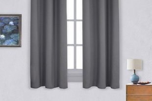 short curtains nicetown thermal insulated grommet blackout curtains for bedroom (2 panels,  w42 x JPLLUKT