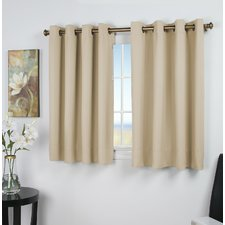 short curtains sallie solid blackout thermal grommet single curtain panel HYYPHUK