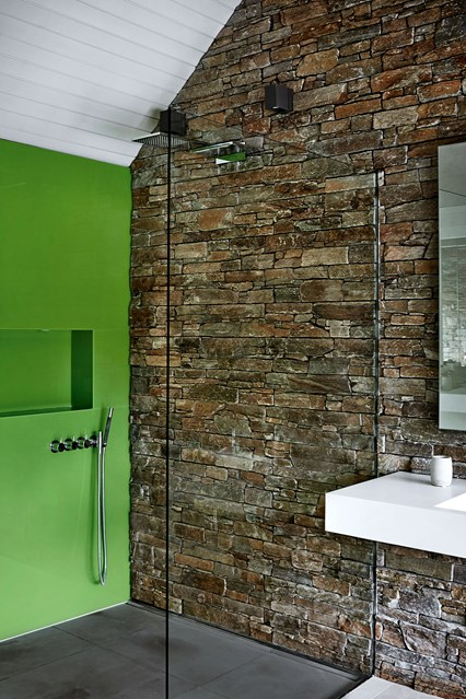 shower room ideas green in shower room EHGYCXB