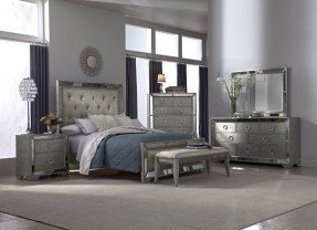 silver bedroom furniture angelina bedroom collection - value city furniture-queen bed $999.99 WEVGHTG