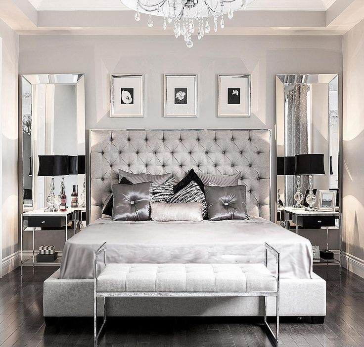 silver bedroom furniture glamorous bedroom decor via @stallonemedia CFJBQET