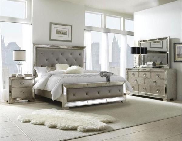 silver bedroom furniture sets photo - 3 AHTGNNE