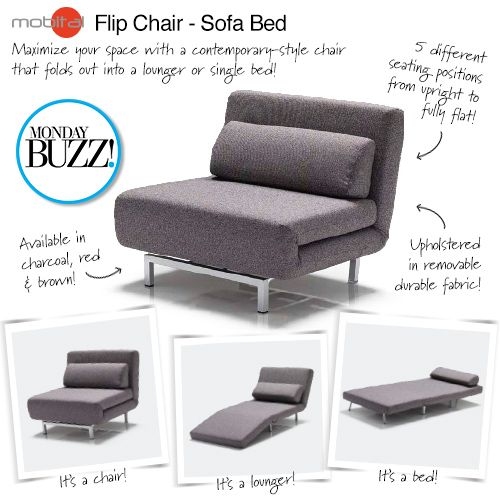 single sofa bed our #mondaybuzz is this flip chair - sofa ZJEQOUG