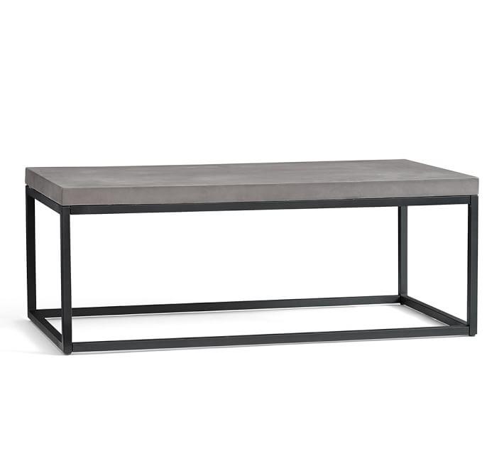 sloan concrete u0026 metal coffee table | pottery barn SGZEBKC