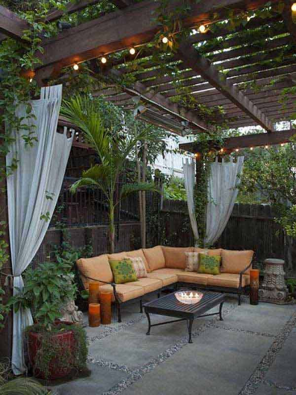 small backyard ideas 26 jaw dropping beautiful yard and patio string lighting ideas for a small XYCNGGY