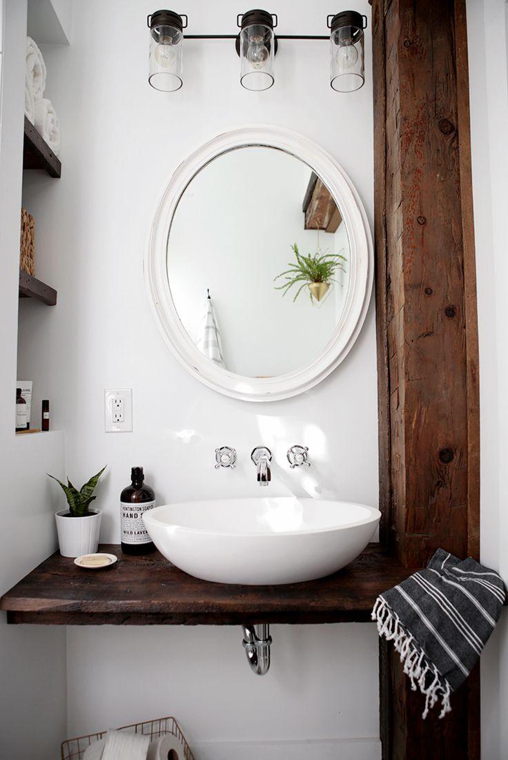 small bathroom sink diy floating sink shelf ECUAIEE