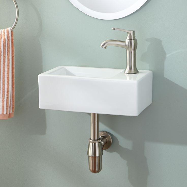 small bathroom sink muhlen wall-mount sink. sinks for small bathroomssmall ... WKIEDYV