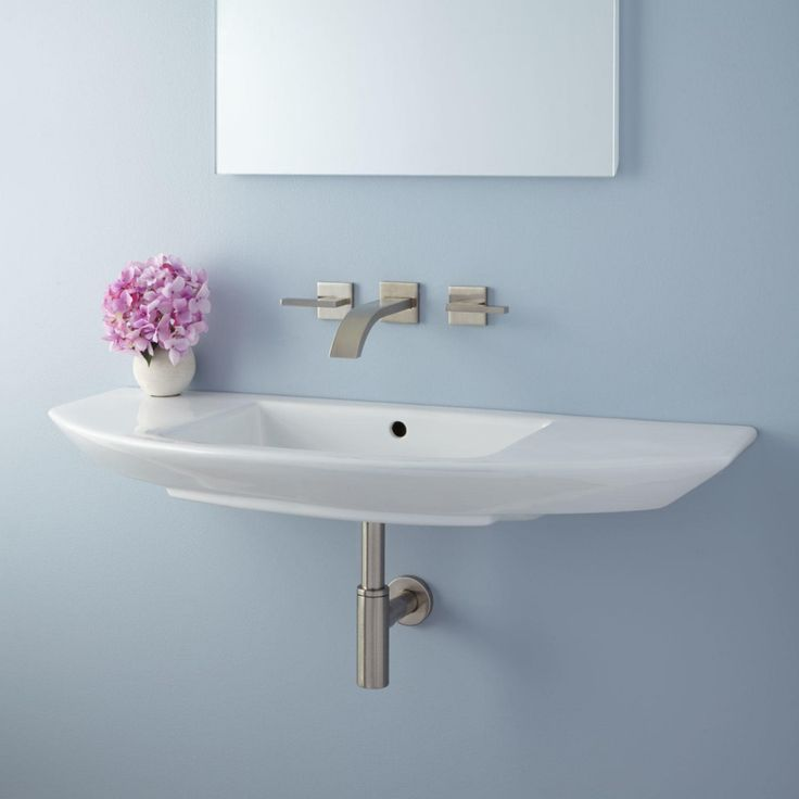 small bathroom sinks wall - mounted narrow bathroom sinks. LRNOMCT