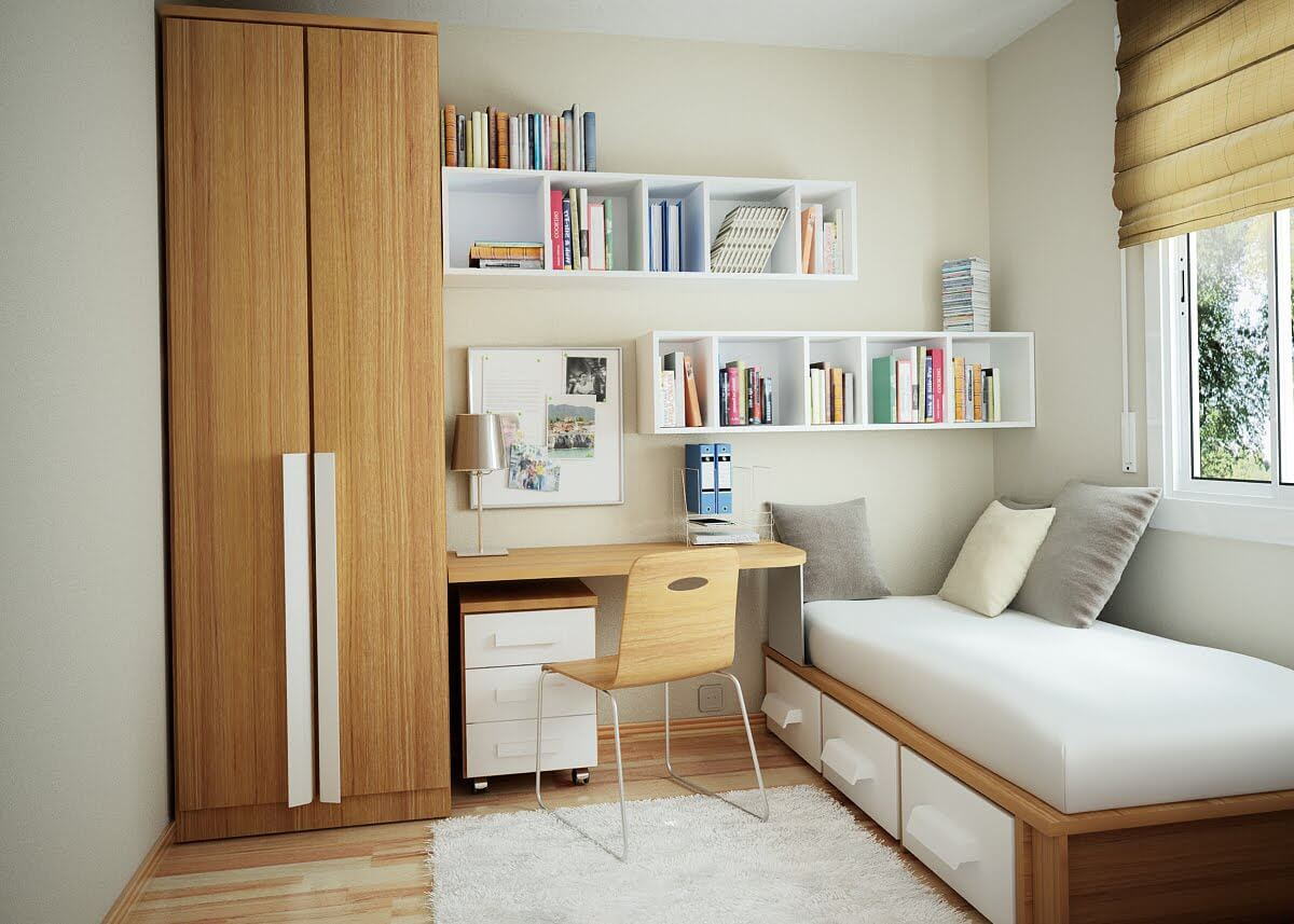 How to place the bedroom furniture if you have a small bedroom?