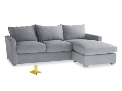 small corner sofa large right hand pavilion chaise sofa in dove grey wool contemporary  pavilion FCZDRFV