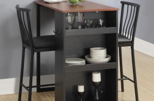 small dining sets dorel home furnishings 3 piece black counter height bar set RICZAIL