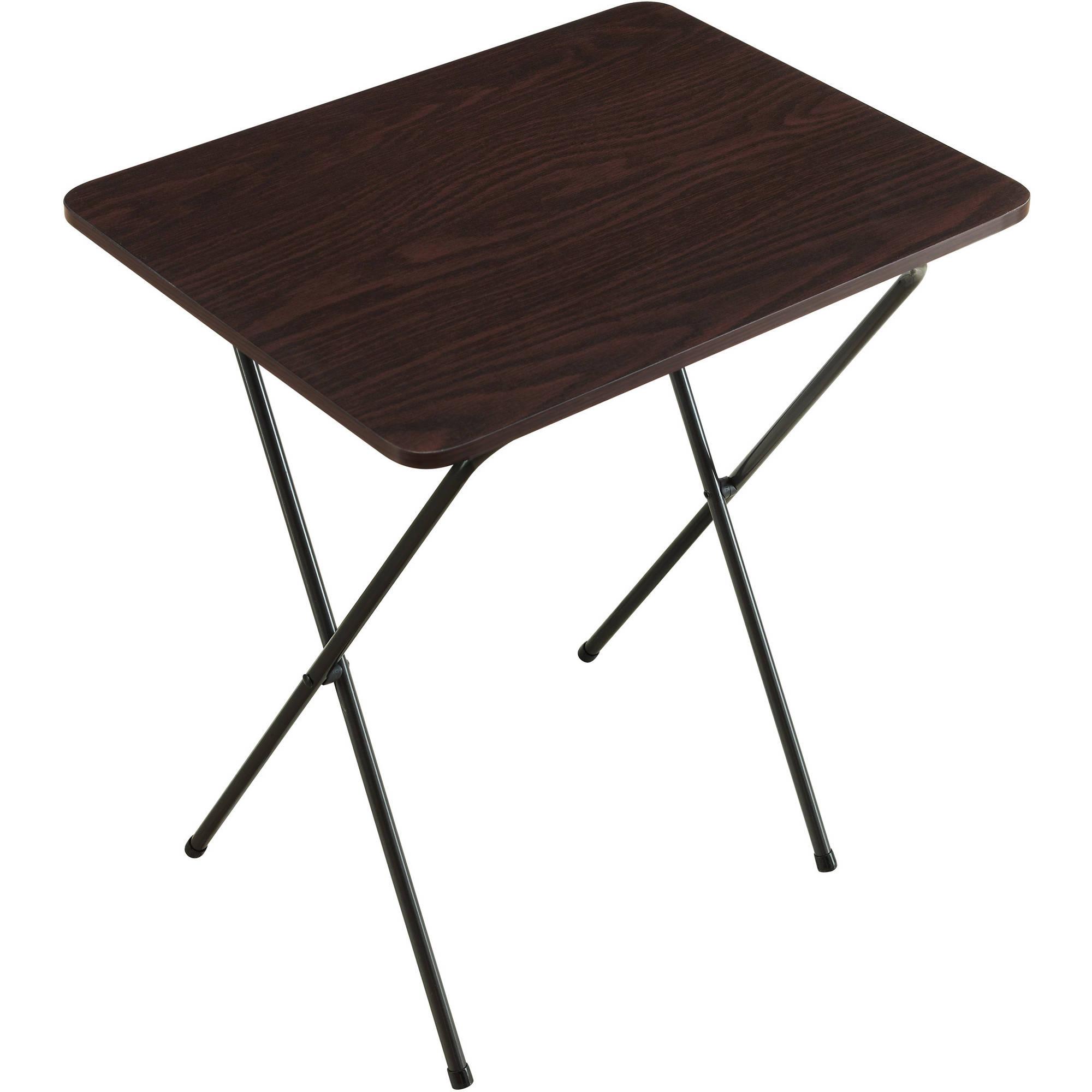 small folding table folding tray table, espresso DTXOHIZ