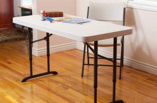 small folding table lifetime 4u0027 adjustable folding table, white granite ICKHAUR