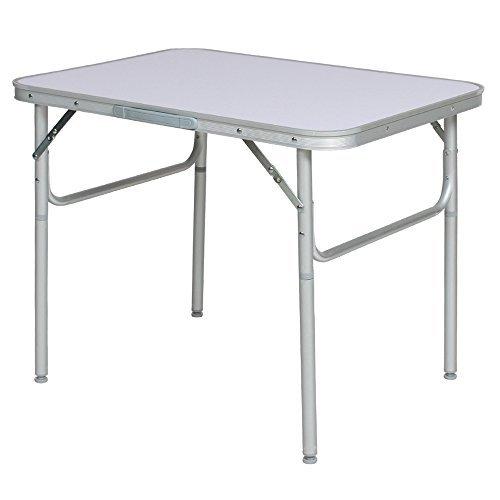 small folding table tectake aluminium folding portable camping table YCNFJQC