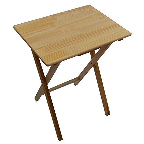 small folding table unibos rubberwood folding wooden tv table with wood pine finish - ideal for LBGWDCH