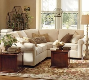 small sectional sofa buchanan curved 3-piece small sectional with wedge #potterybarn QMJIWTN