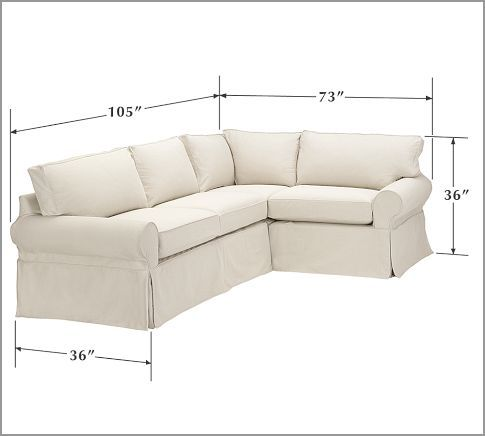 small sectional sofas pb basic 3-piece small sectional | pottery barn | iu0027m thinking this LBNYCDM