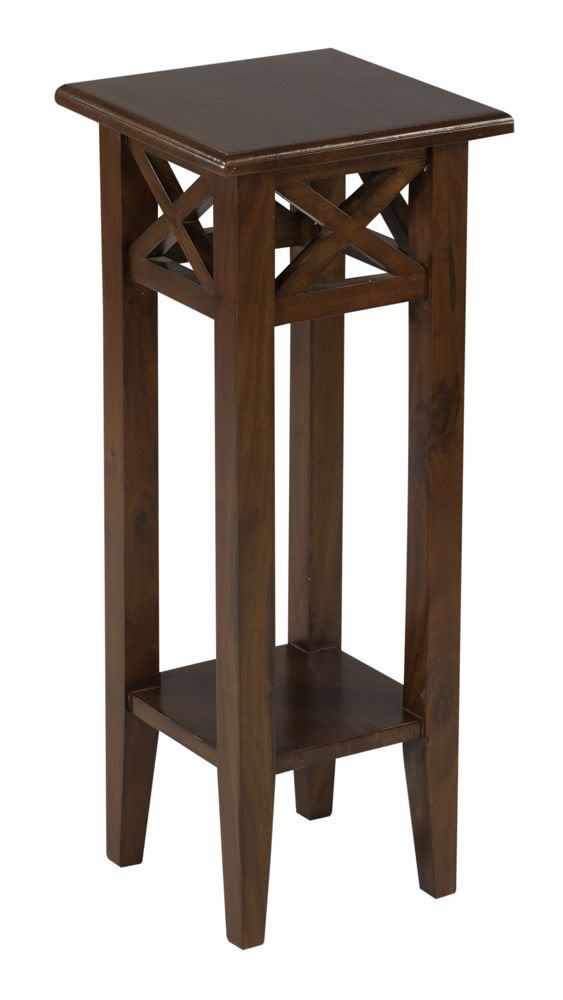 small tables small wood tall table | tall medium brown pedestal accent country style JWPOVUB