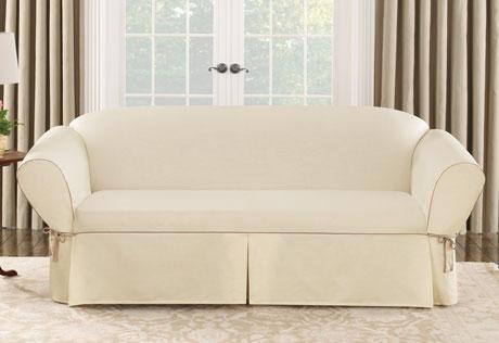 sofa slipcover cotton canvas sofa slipcovers WLRNAGF