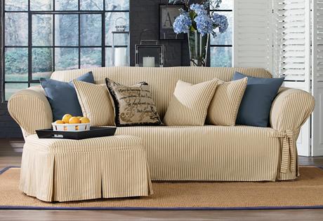 sofa slipcover ticking stripe sofa slipcovers NBVYEOU
