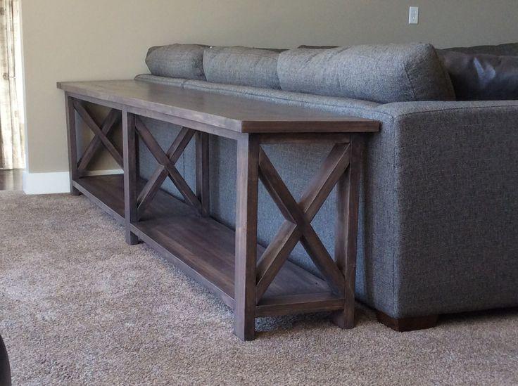 sofa table ana white | extra long, no middle shelf rustic x console - diy REPOYGS