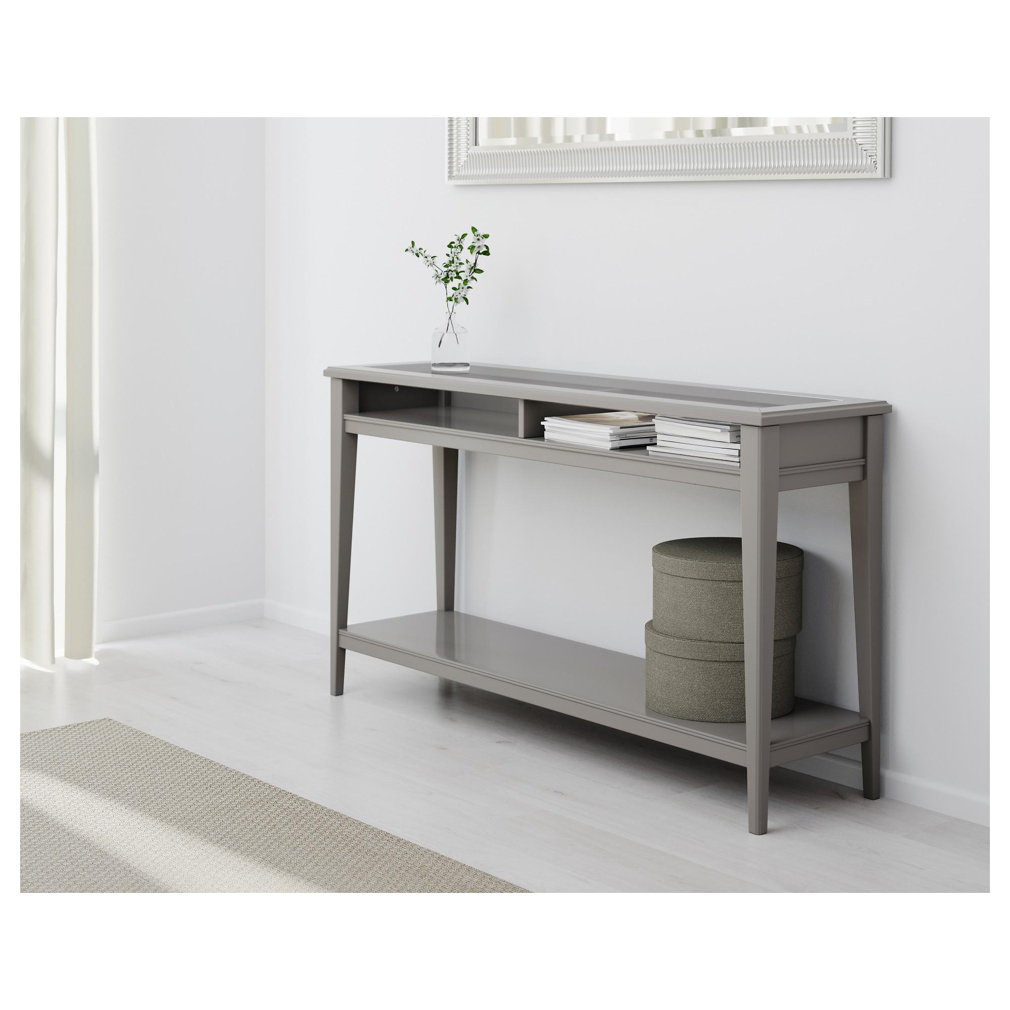 sofa table liatorp console table - white/glass - ikea FYBFBOO