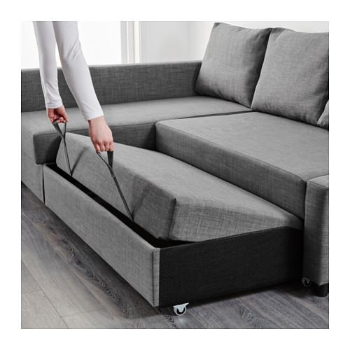 sofabed friheten corner sofa-bed with storage - skiftebo dark gray - ikea GYDLTPQ