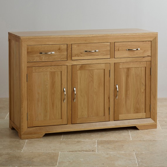 solid oak furniture bevel natural solid oak large sideboard EWGXDJL