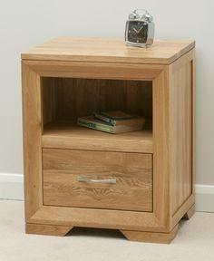 solid oak furniture bevel solid oak range - bedside chest - oak furniture land  www.oakfurnitureland.co MHUMGBT