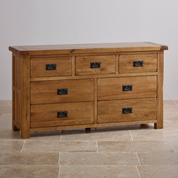 solid oak furniture original rustic solid oak 3+4 dresser MNEPGQF