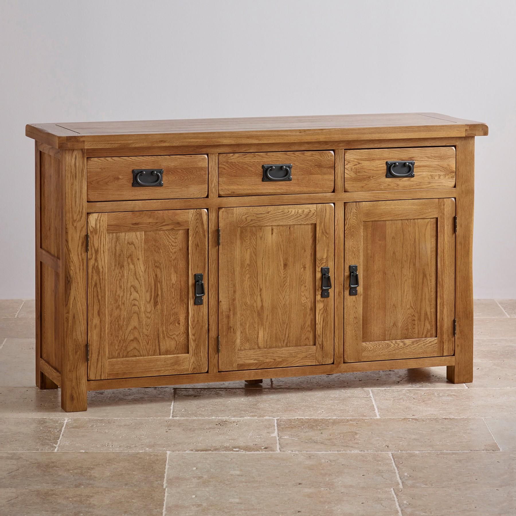 solid oak furniture original rustic solid oak large sideboard JTPIPAS