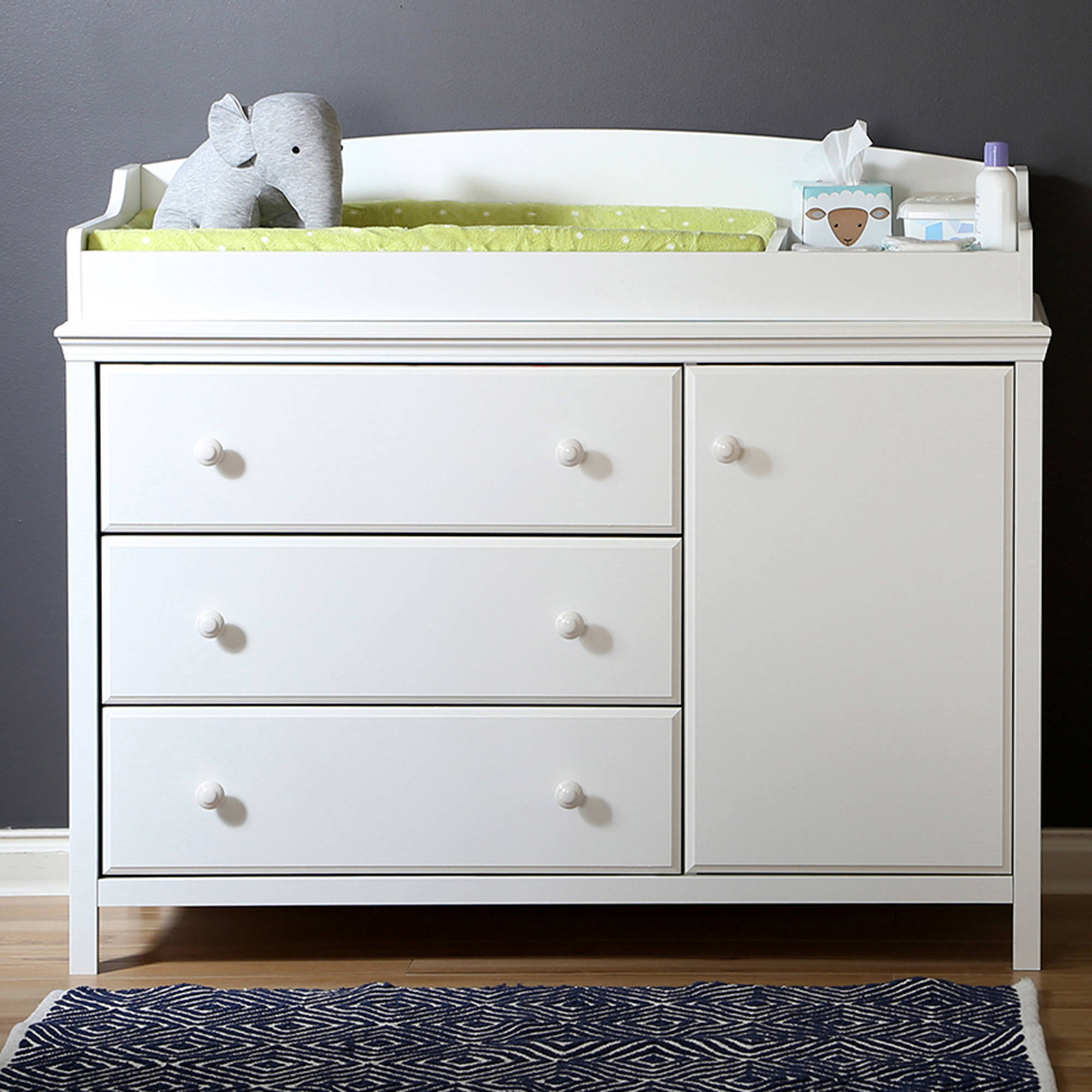 south shore cotton candy changing table with removable top, multiple  finishes - LRSFUVI
