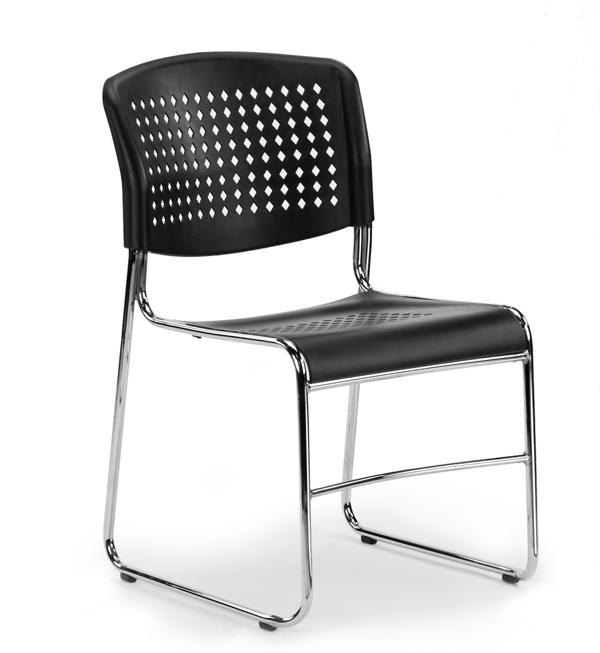 stackable chairs high density stacking chair-front view KYUMODB