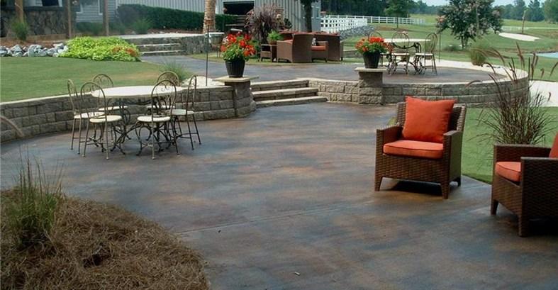 stained concrete patio concrete patios southern textures lexington, sc BIWEBOY