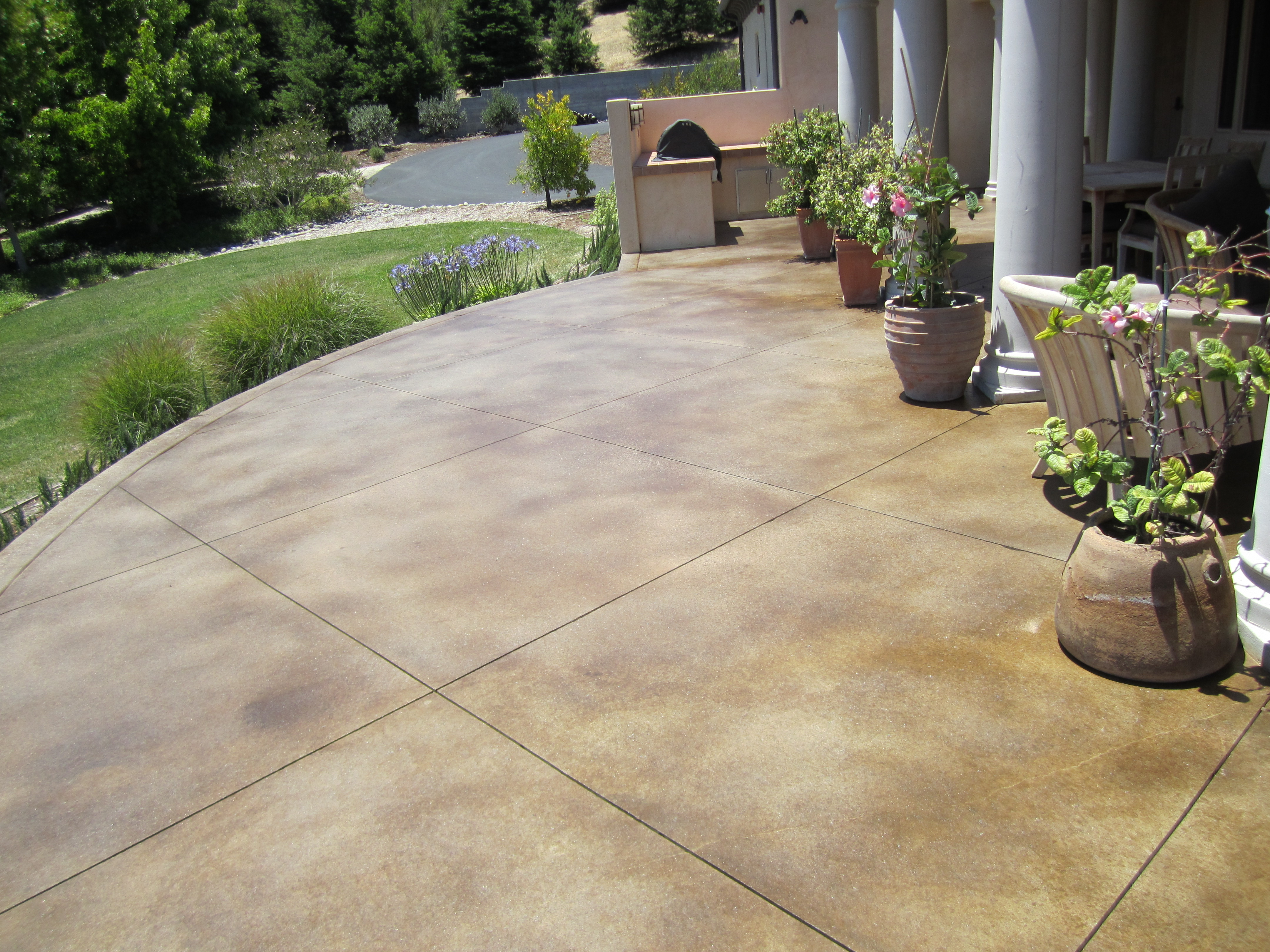 stained concrete patio find this pin and more on patio. stained concrete ... XBMKRGF