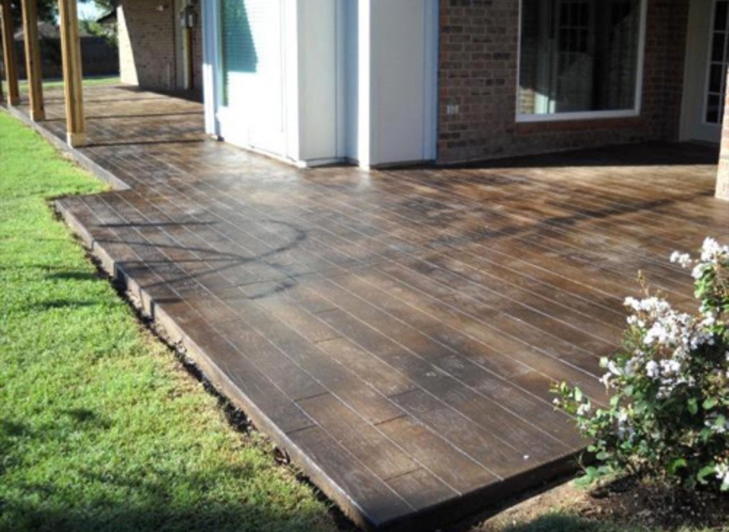 Stained concrete patio – the long-lasting one