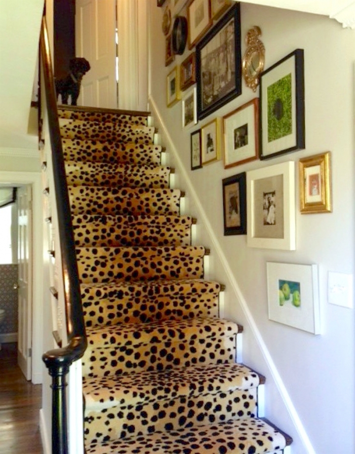 stair runners elements of style blog leopard staircase runner cheetah carpet glen-eden.com FBPBVCX